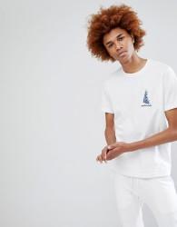 Maharishi Embroidered Dragon T-Shirt - White