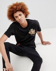 Maharishi Embroidered Golden Dragon T-Shirt - Black