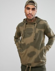 Maharishi Hoodie In Camo With Logo - Green