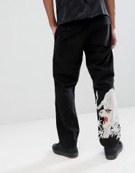 Maharishi Large Tiger Embroidery Snopants Trousers - Black