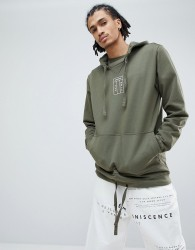 Maharishi Organic Cotton Hoodie With Embroidered Logo In Green - Green