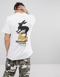 Maharishi T-Shirt In White With Back Print - White