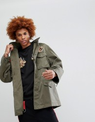 Maharishi Tiger Patch M65 Jacket - Green