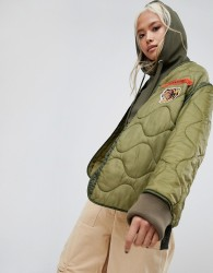 Maharishi Upcycled Military Liner Jacket - Green