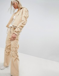 Maharishi Wide Leg Trousers With Gathered Knee Co-Ord - Tan