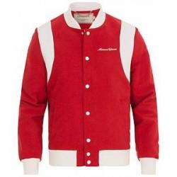 Maison Kitsuné Patched Teddy Jacket Red/White