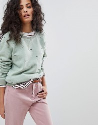 Maison Scotch Basic Sweatshirt With Anchors - Green