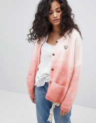 Maison Scotch Chunky Cardigan With Gradient Effect - Pink