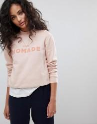Maison Scotch Club Nomade Crewneck Sweatshirt - Pink