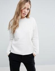 Maison Scotch High Neck Textured Sweatshirt - White
