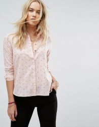 Maison Scotch Shirt with Key Print - Pink