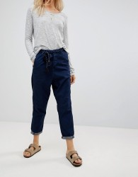 Maison Scotch Tapered Jeans with Rope Belt - Navy