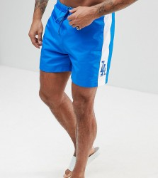 Majestic L.A Dodgers Swimshorts With Panel In Blue - Navy