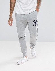 Majestic New York Yankees Joggers In Grey - Grey