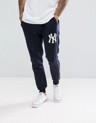 Majestic New York Yankees Joggers In Navy - Navy