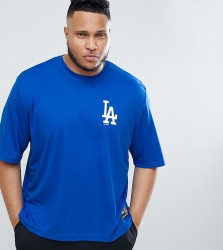 Majestic Oversized L.A Dodgers Mesh T-Shirt In Navy - Navy