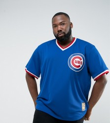 Majestic PLUS MLB Chicago Cubs Overhead Baseball Jersey In Blue - Blue