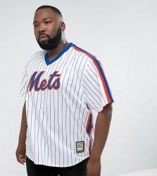 Majestic PLUS MLB New York Mets Overhead Baseball Jersey In White - White