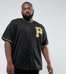 Majestic PLUS MLB Pittsburgh Pirates Baseball Replica Jersey In Black - Black