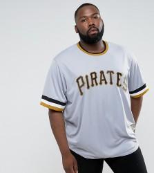 Majestic PLUS MLB Pittsburgh Pirates Overhead Baseball Jersey In Grey - Grey