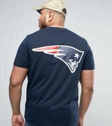 Majestic PLUS Patriots Longline T-Shirt - Navy