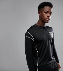 Majestic Sport Raiders Long Sleeve T-Shirt With Zip - Black