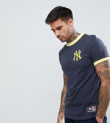 Majestic Yankees Ringer T-Shirt In Navy - Navy