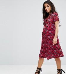 Mamalicious Bold Printed Dress - Navy