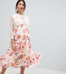 Mamalicious Floral Occasion Midi Dress - Multi