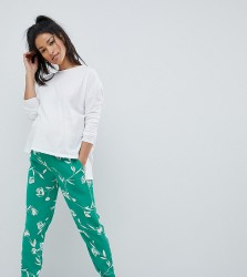 Mamalicious Floral Print Trousers - Multi