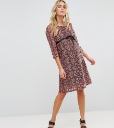 Mamalicious Lace Shift Dress - Multi