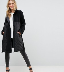 Mamalicious Long Jacket With Post Birth Functionality - Black