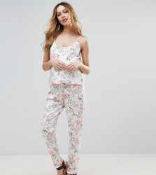 Mamalicious Nursing Double Layer Floral Jumpsuit - Multi