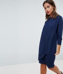 Mamalicious Nursing Drape Front Jersey Dress - Navy