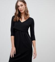 Mamalicious nursing wrap jersey dress - Black