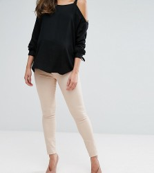 Mamalicious Over The Bump Elly Skinny Jeans - Stone