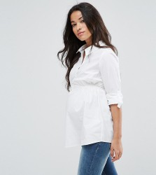 Mamalicious Smart Woven Shirt - White