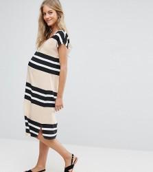 Mamalicious Striped Shift Dress - Multi
