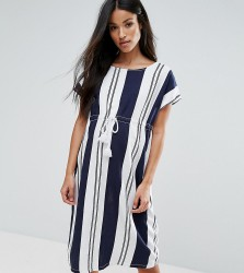 Mamalicious Striped Shift Dress With Drawstring Detail - Multi