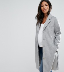 Mamalicious Wool Coat - Grey