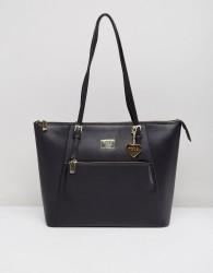 Marc B Tote Bag With Zip Detail - Black