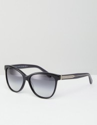 Marc By Marc Jacobs Tinted Lens Cat Eye Sunglasses - Black