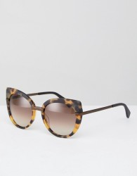 Marc By Marc Jacobs Tort Frame Oversized Cat Eye Sunglasses - Brown