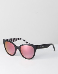 Marc Jacobs 231/S Round Sunglasses In Black - Black