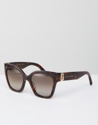 Marc Jacobs Cat Eye Chunky Frame Sunglasses - Brown