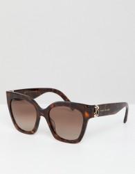 Marc Jacobs cat eye sunglasses in tort - Brown