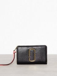 Marc Jacobs Compact Wallet Pung Black Rose