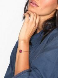 Marc Jacobs Enamel Logo Disc Bracelet Armbånd Magenta