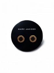 Marc Jacobs Enamel Logo Disc Studs Ørering Oro
