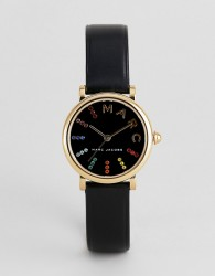 Marc Jacobs MJ1592 Roxy ladies black leather watch - Black